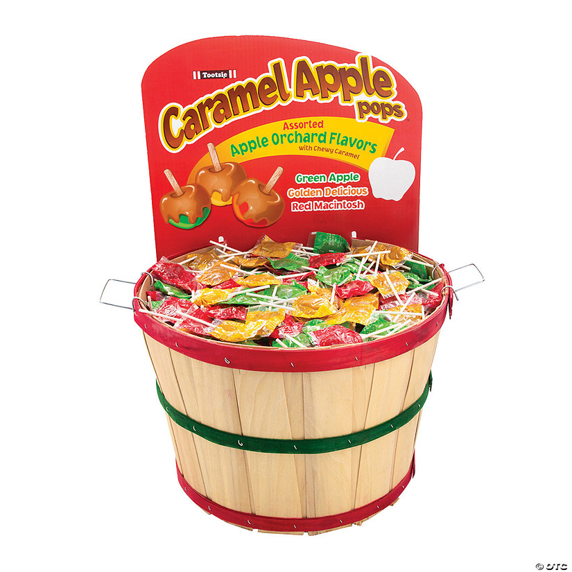 Bulk Tootsie<sup>&#174;</sup> Apple Orchard Pops Basket - 990 Pc. Image Thumbnail