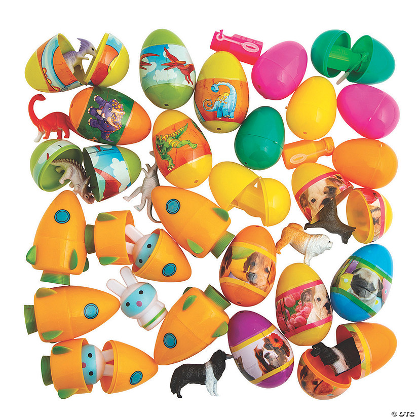 Bulk Toy-Filled Plastic Easter Egg Assortment - 240 Pc. Image Thumbnail