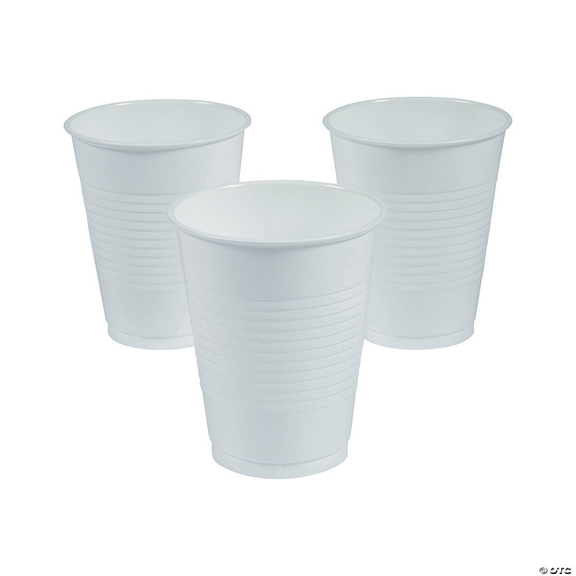 Bulk White Plastic Cups - 50 Ct. Audio Thumbnail
