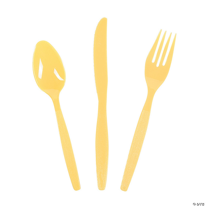 Bulk Yellow Plastic Cutlery Set - 210 Ct. Audio Thumbnail