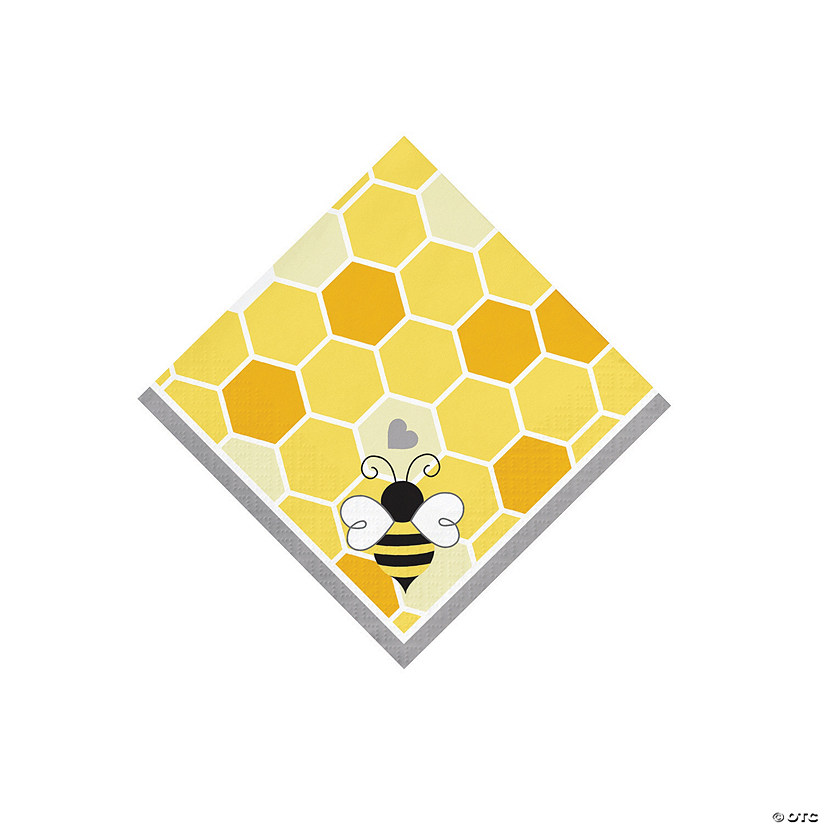 Bumblebee Party Beverage Napkins Image Thumbnail