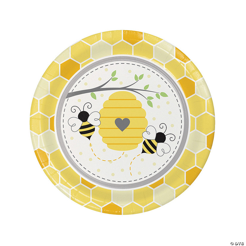 Bumblebee Party Round Paper Dinner Plates Audio Thumbnail