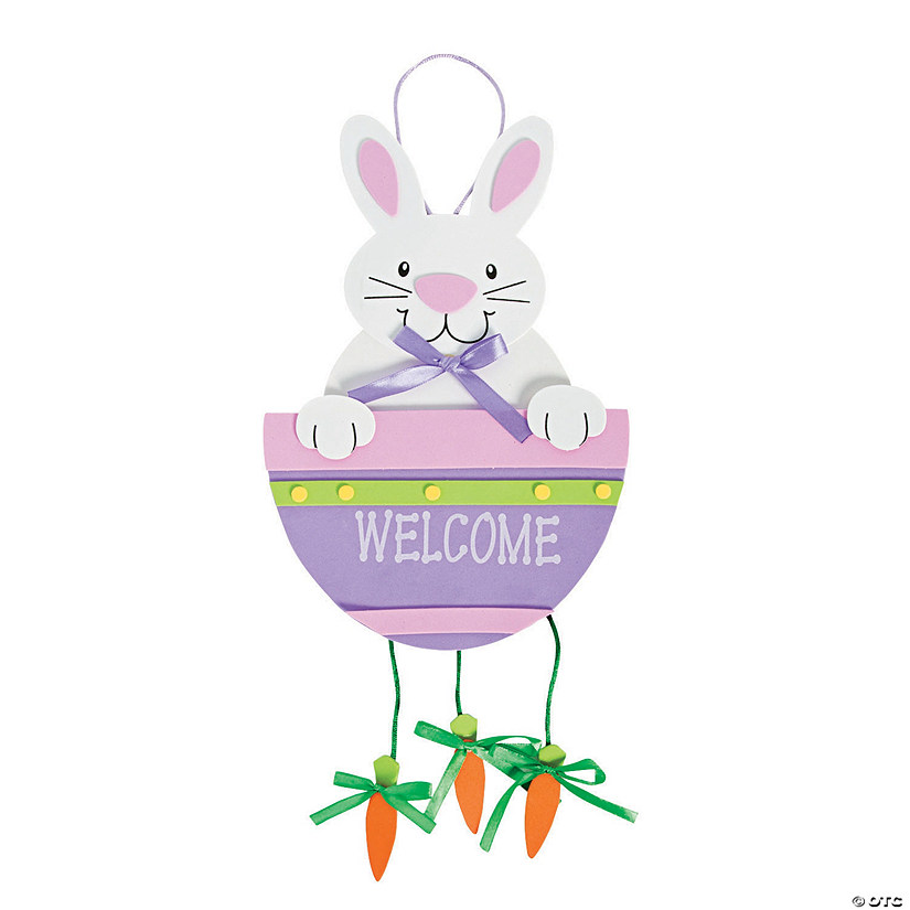 Bunny And Carrot Door Hanger Craft Kit Image Thumbnail