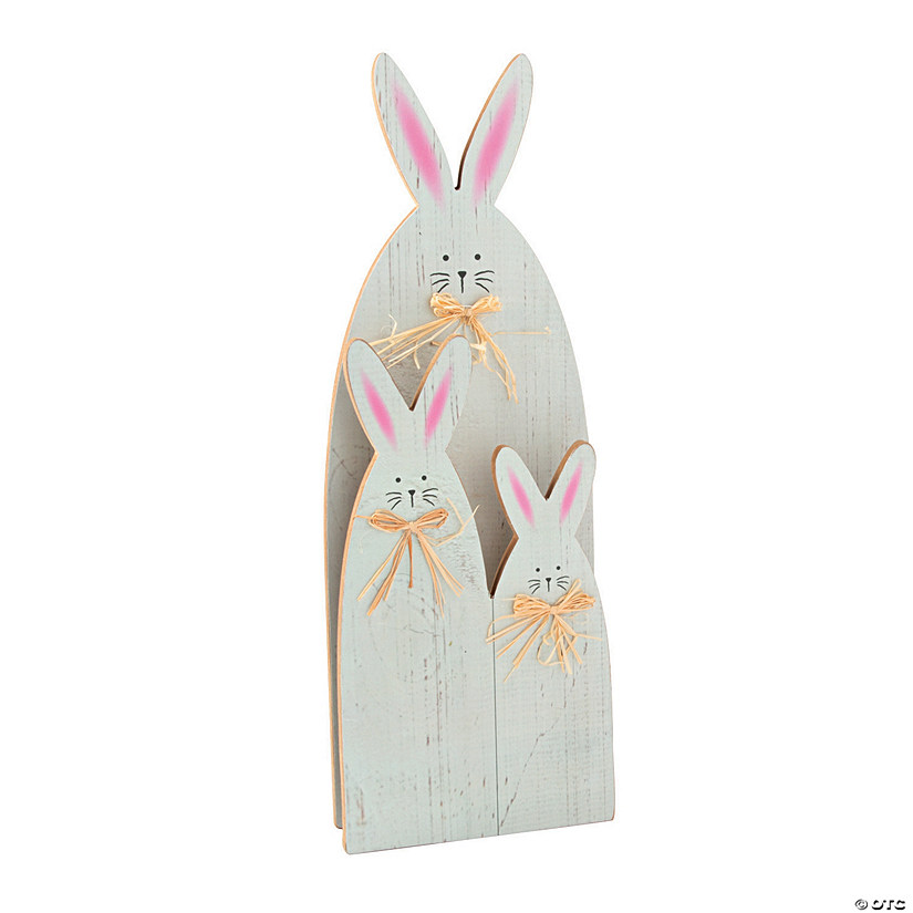 Bunny Family Easter Tabletop Decoration Image Thumbnail