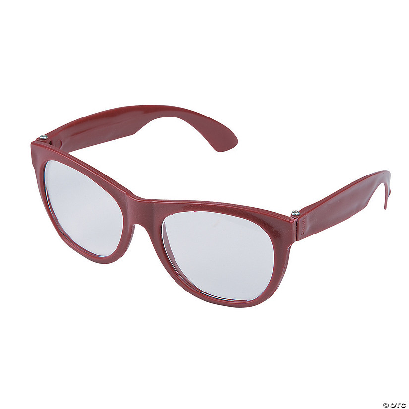 Burgundy Clear Lens Glasses - 12 Pc. Audio Thumbnail
