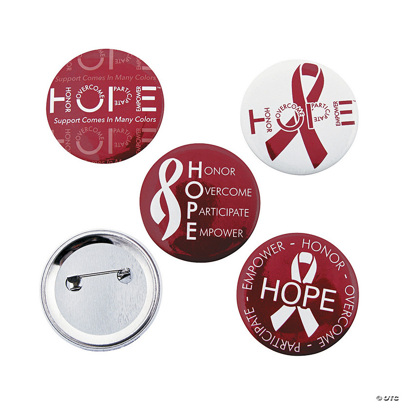 Burgundy Hope Buttons