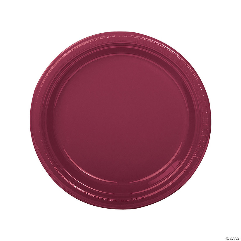 Burgundy Plastic Dinner Plates Audio Thumbnail