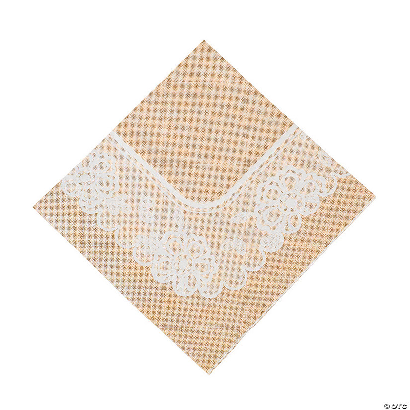 Burlap & Lace Luncheon Napkins Audio Thumbnail