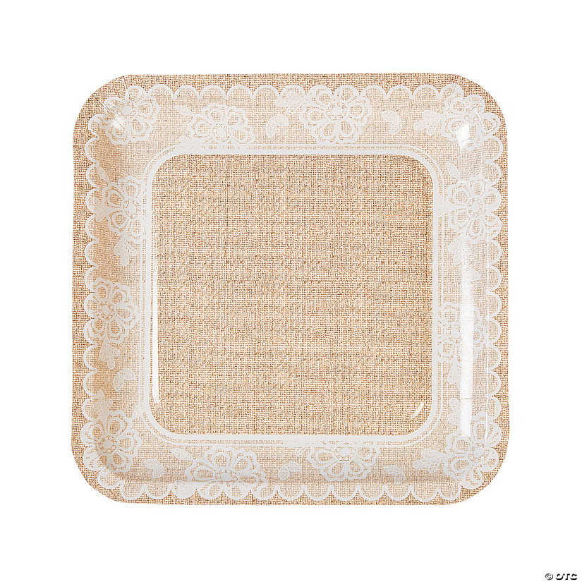 Burlap & Lace Paper Dinner Plates Audio Thumbnail