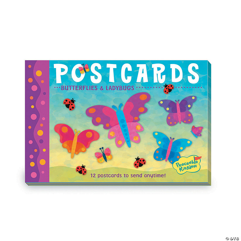 Butterflies & Ladybugs Postcards
