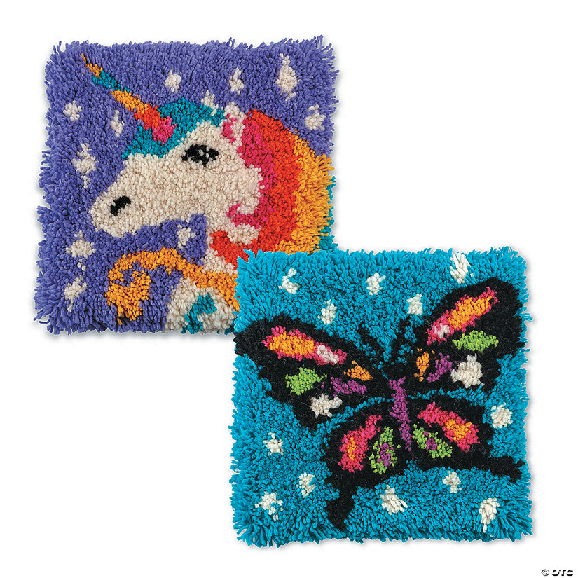 Butterfly And Unicorn Latch Hook Kit: Set of 2 Audio Thumbnail
