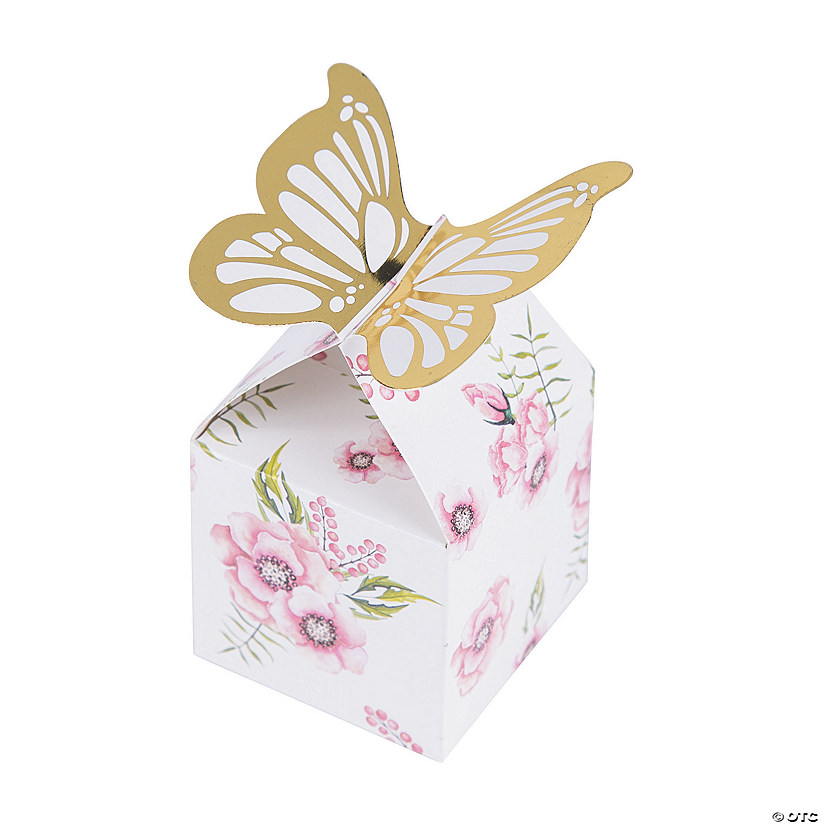 Butterfly Floral Favor Boxes Audio Thumbnail