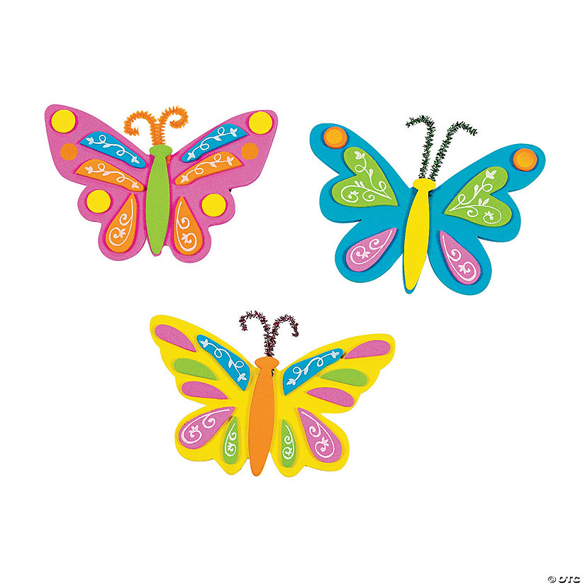 Butterfly Magnet Craft Kit Image Thumbnail