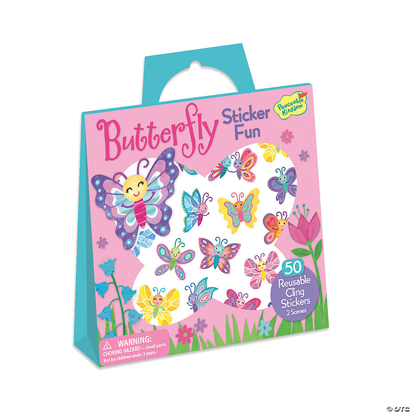Butterfly Reusable Sticker Tote