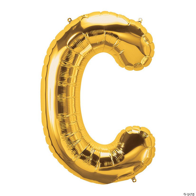 C Gold Letter Mylar Balloon