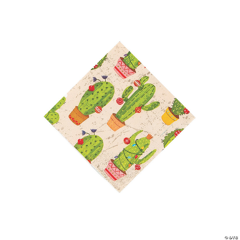 Cactus Christmas Beverage Napkins Audio Thumbnail