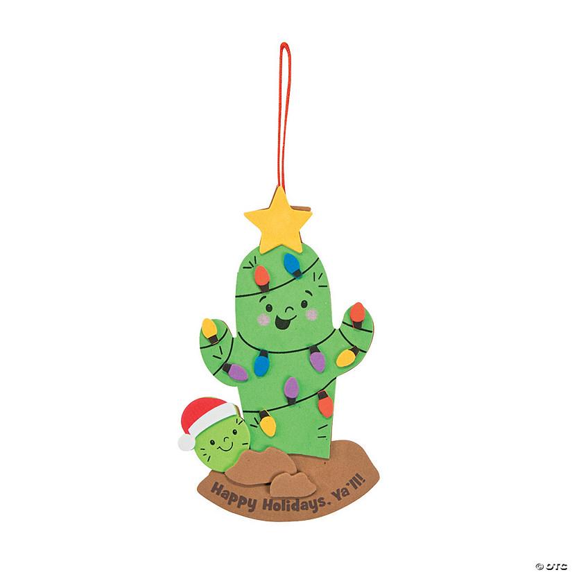 cactus christmas tree ornament craft kit