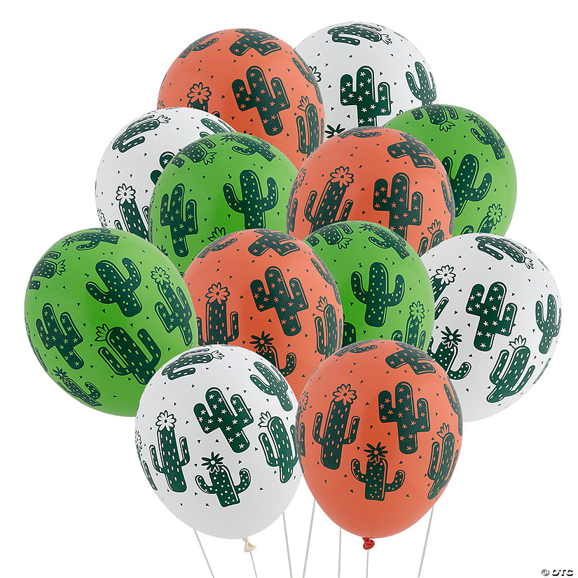 "Cactus Print 11"" Latex Balloons Audio Thumbnail"