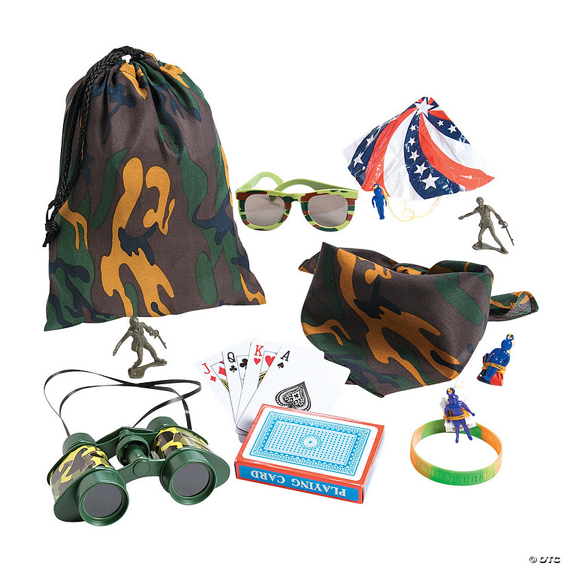 Camouflage Army Pre-Filled Drawstring Goody Bags Audio Thumbnail
