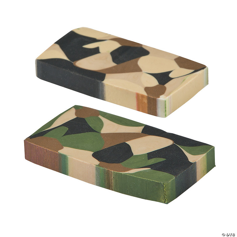 Camouflage Erasers - 24 Pc. Audio Thumbnail