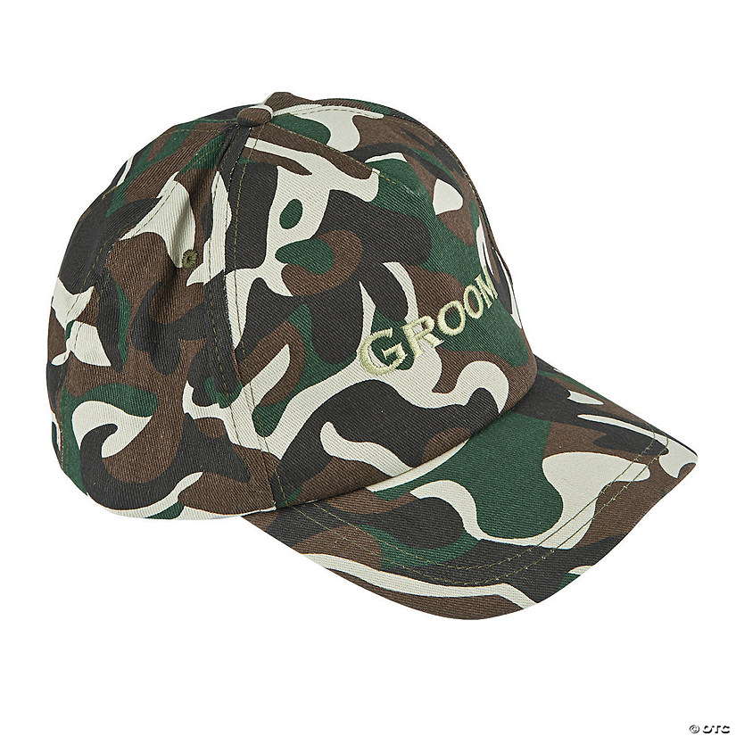 Camouflage Groom Baseball Hat