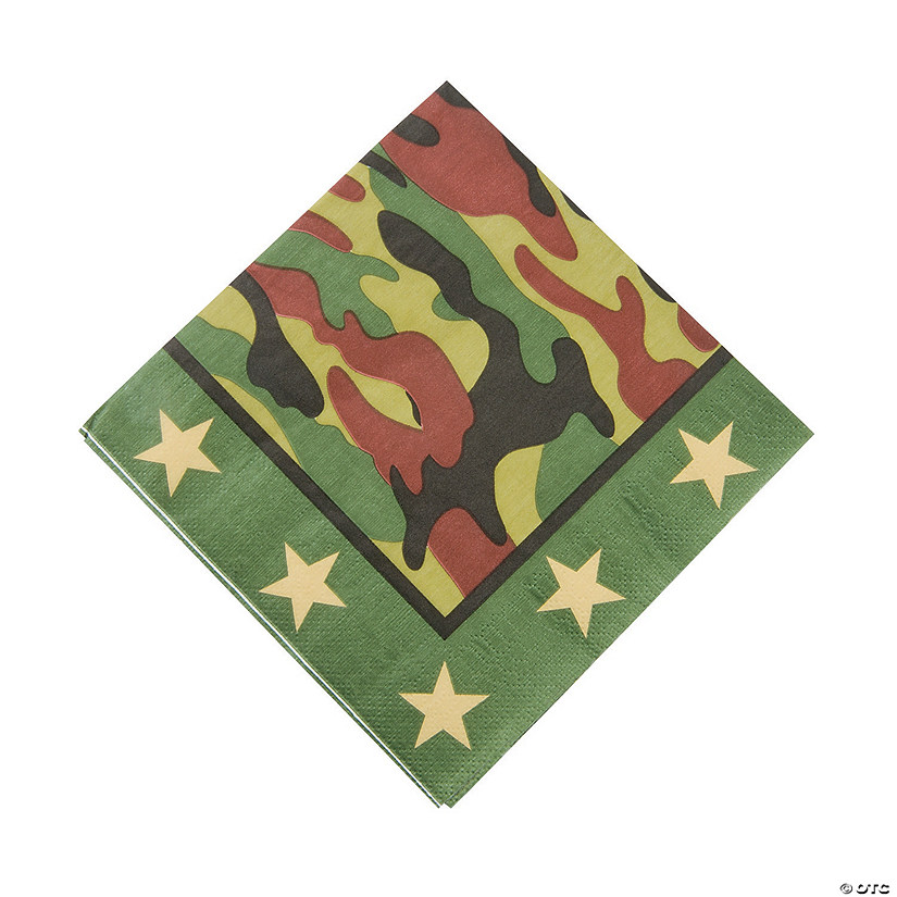 Camouflage Luncheon Napkins Audio Thumbnail