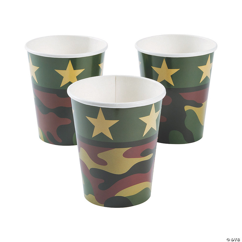 Camouflage Paper Cups Audio Thumbnail