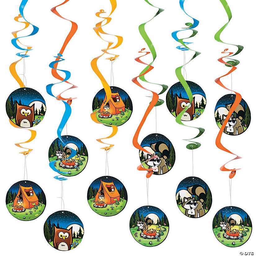 Camp Adventure Hanging Swirl Decorations - 12 Pc. Audio Thumbnail