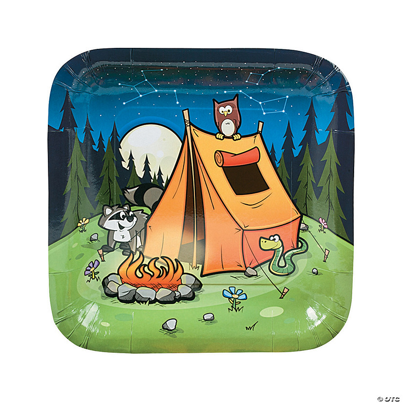 Camp Adventure Paper Dinner Plates - 8 Ct. Audio Thumbnail