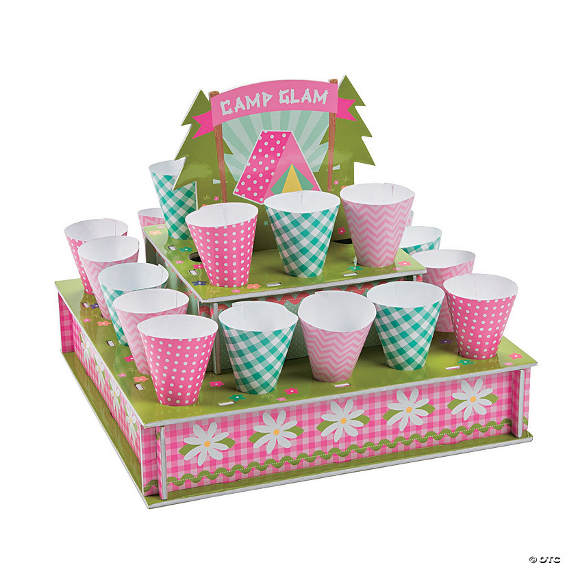 Camp Glam Treat Stand with Cones