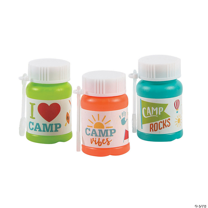 Camp Mini Bubble Bottles - 24 Pc. Image Thumbnail