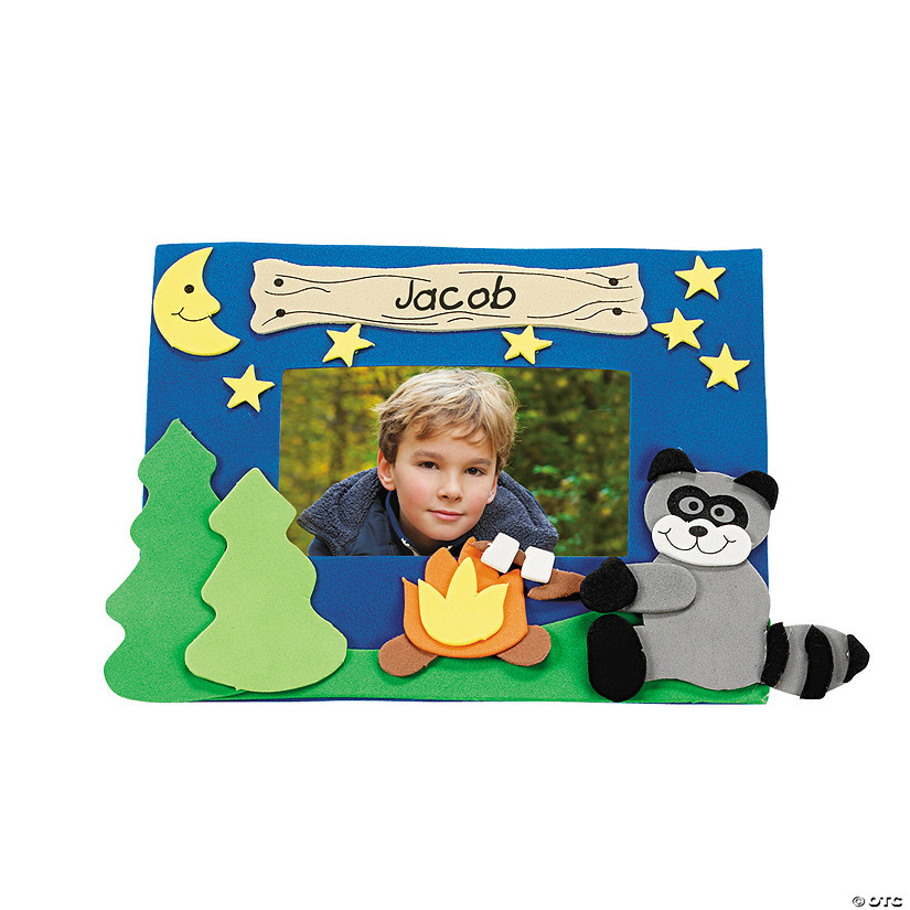 Camp Raccoon Picture Frame Magnet Craft Kit Audio Thumbnail