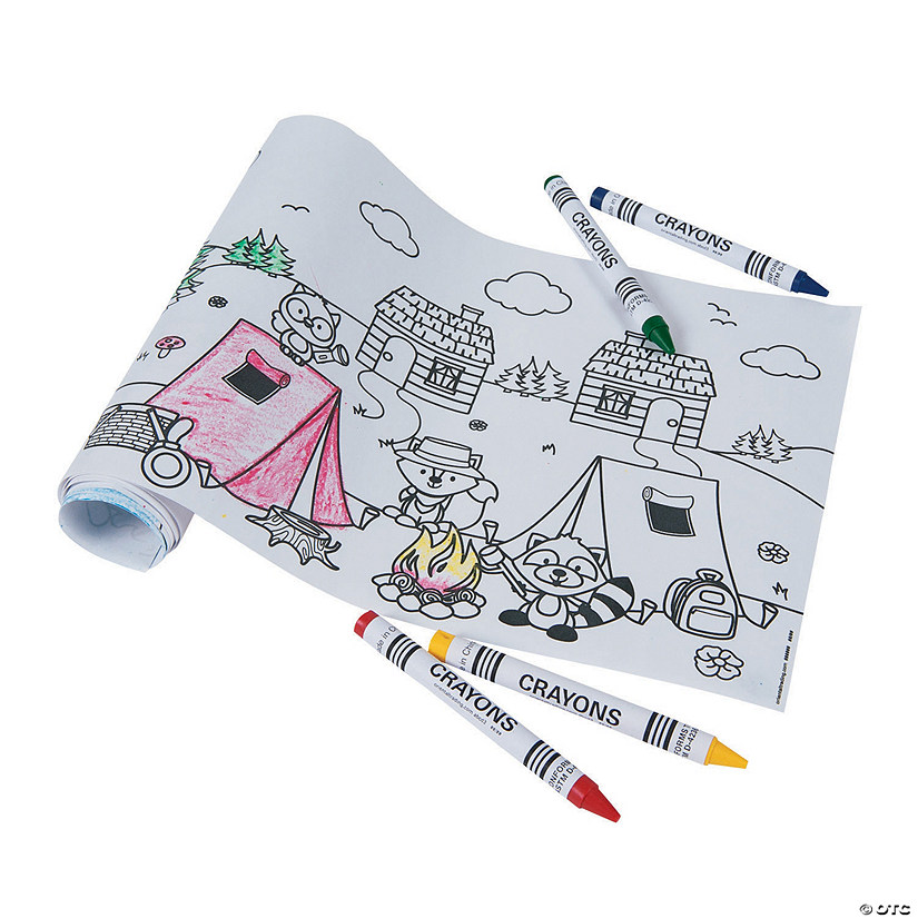 Camping Scene Coloring Rolls with Crayons Audio Thumbnail