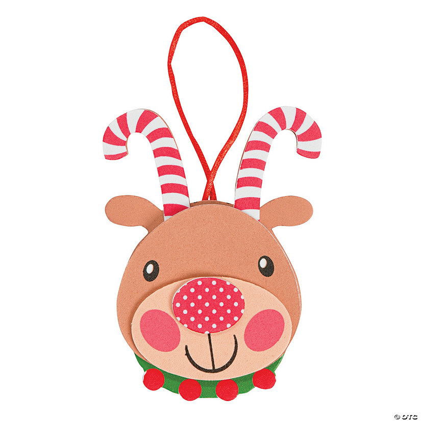 Candy Cane Antler Reindeer Ornament Craft Kit Audio Thumbnail