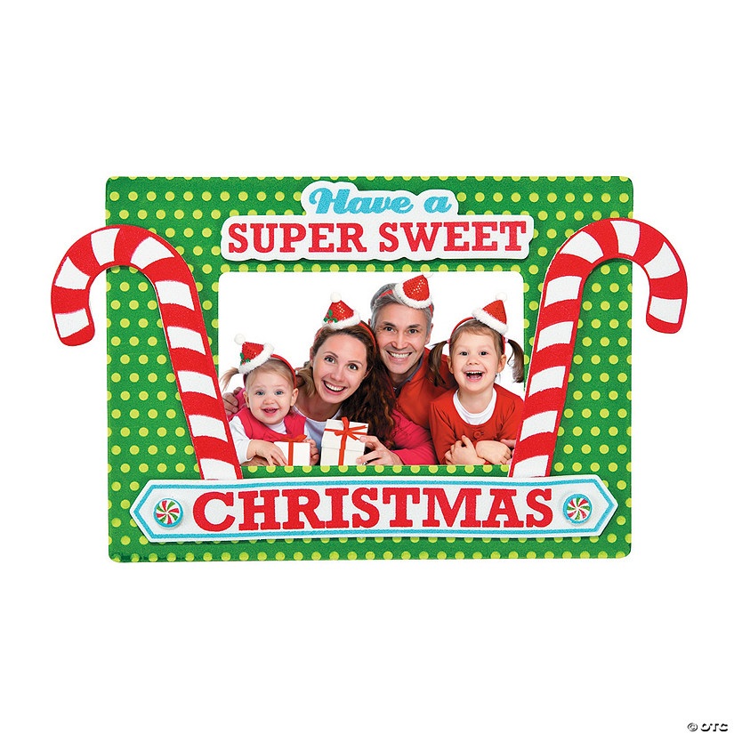 Candy Cane Christmas Picture Frame Magnet Craft Kit Audio Thumbnail