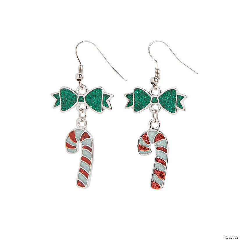 Candy Cane Enamel Earring Craft Kit