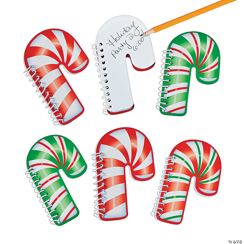 Candy Cane Spiral Notepads Audio Thumbnail