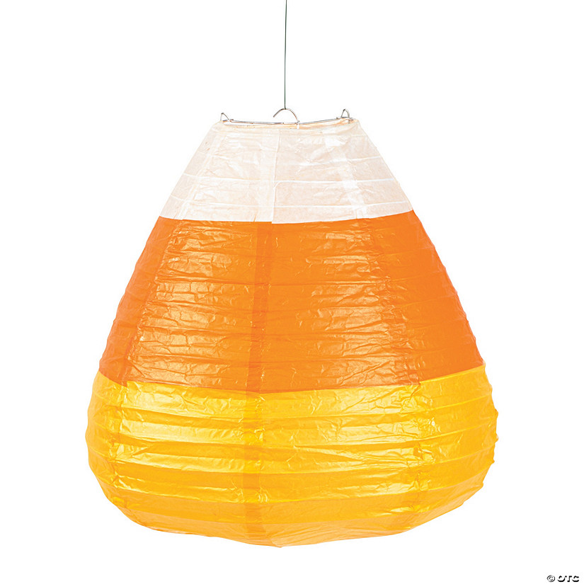 Candy Corn Hanging Paper Lanterns Halloween Décor