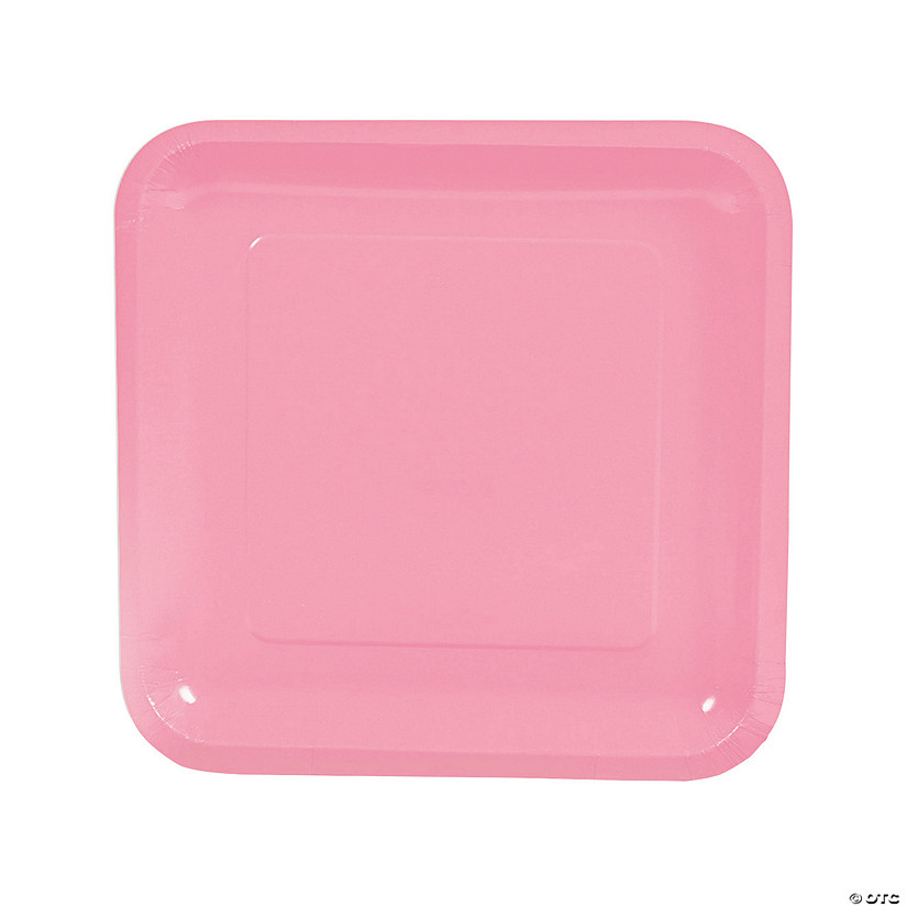 Candy Pink Square Paper Dinner Plates Audio Thumbnail