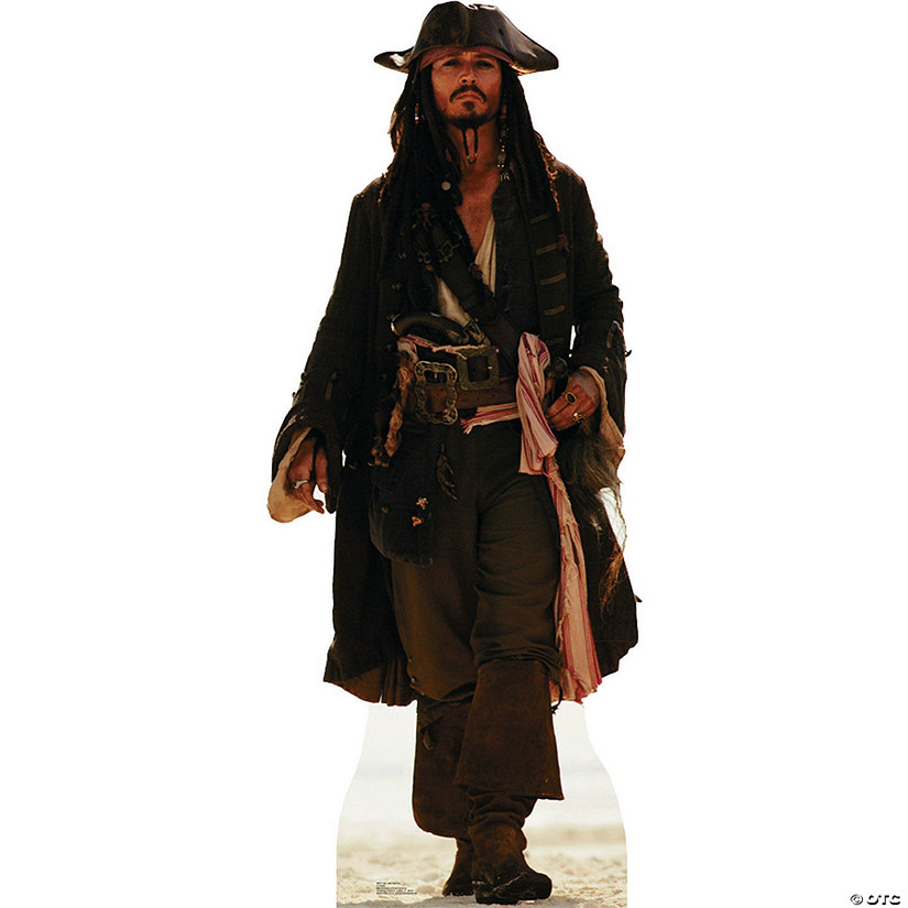 Captain Jack Sparrow Cardboard Stand-Up Image Thumbnail