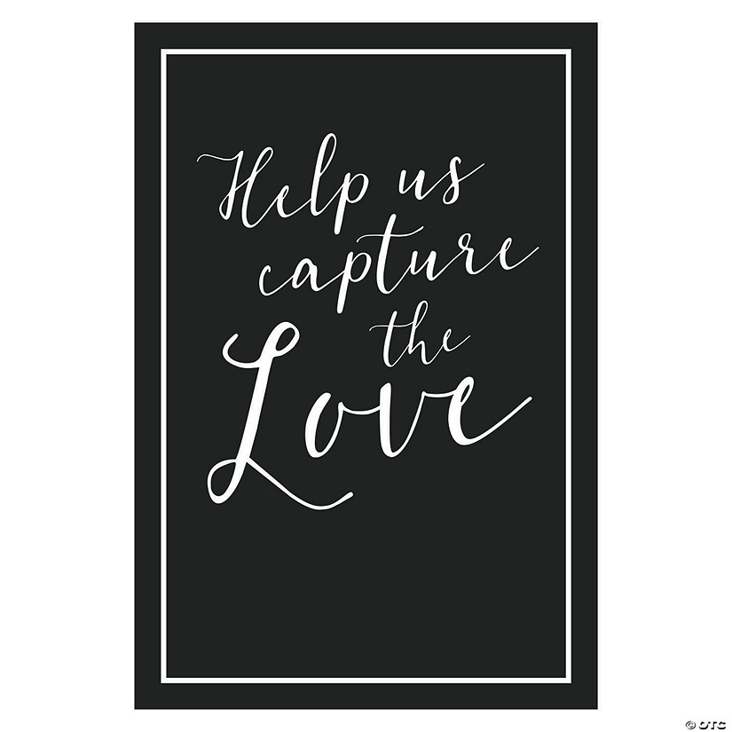 Capture the Love Wedding Hashtag Sign Audio Thumbnail