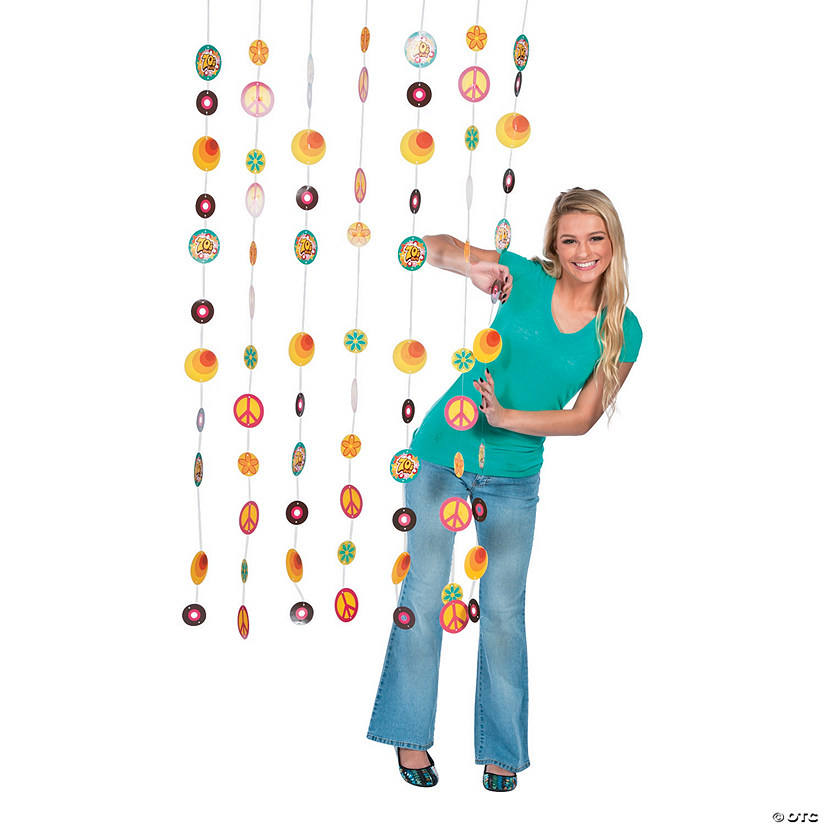 Cardboard 70s Party Door Curtain13759047