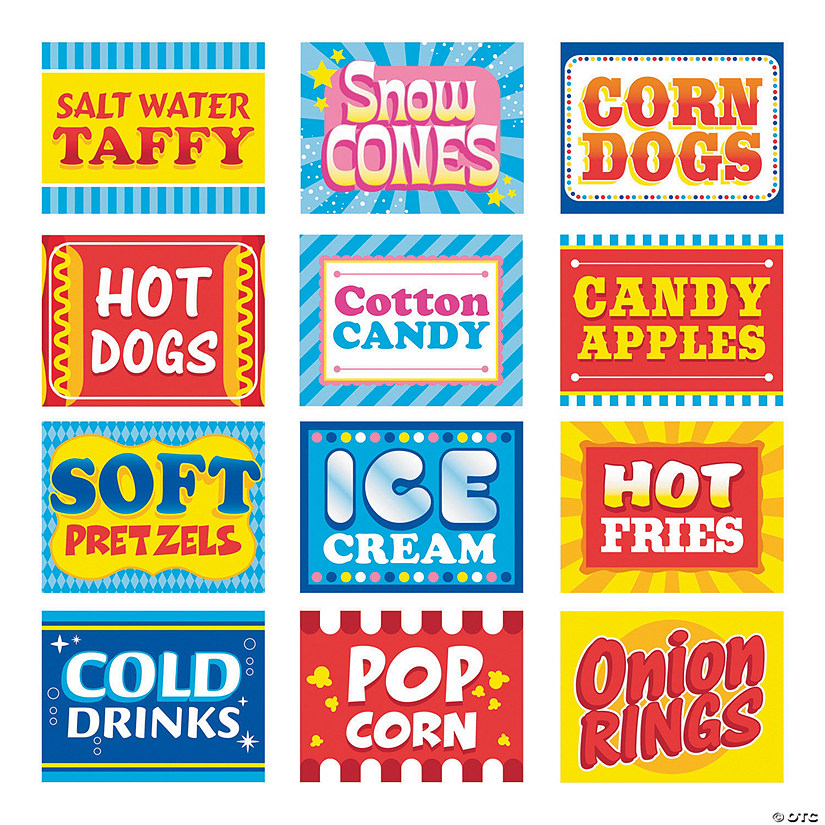 Carnival Food Signs