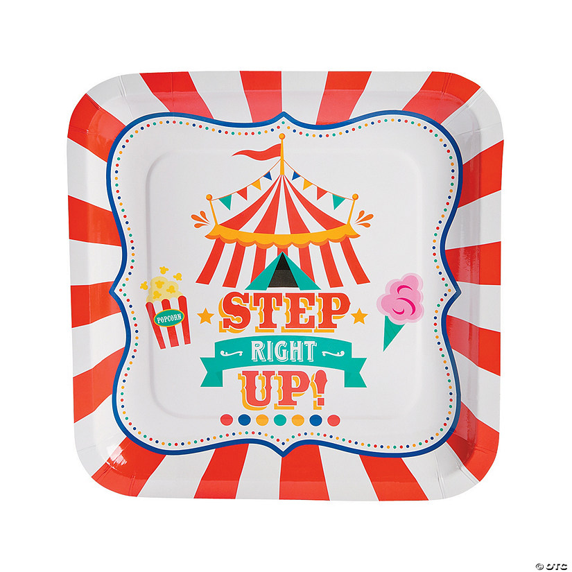 Carnival Paper Dinner Plates - 8 Ct. Audio Thumbnail