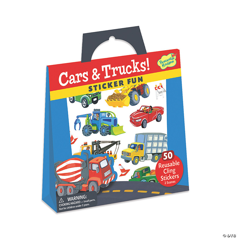 Cars & Trucks Reusable Sticker Tote