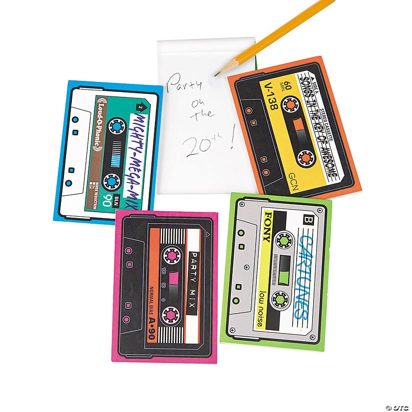 Cassette Shaped Notepads