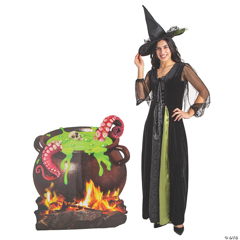 Cauldron Cardboard Stand-Up Halloween Decoration Image Thumbnail
