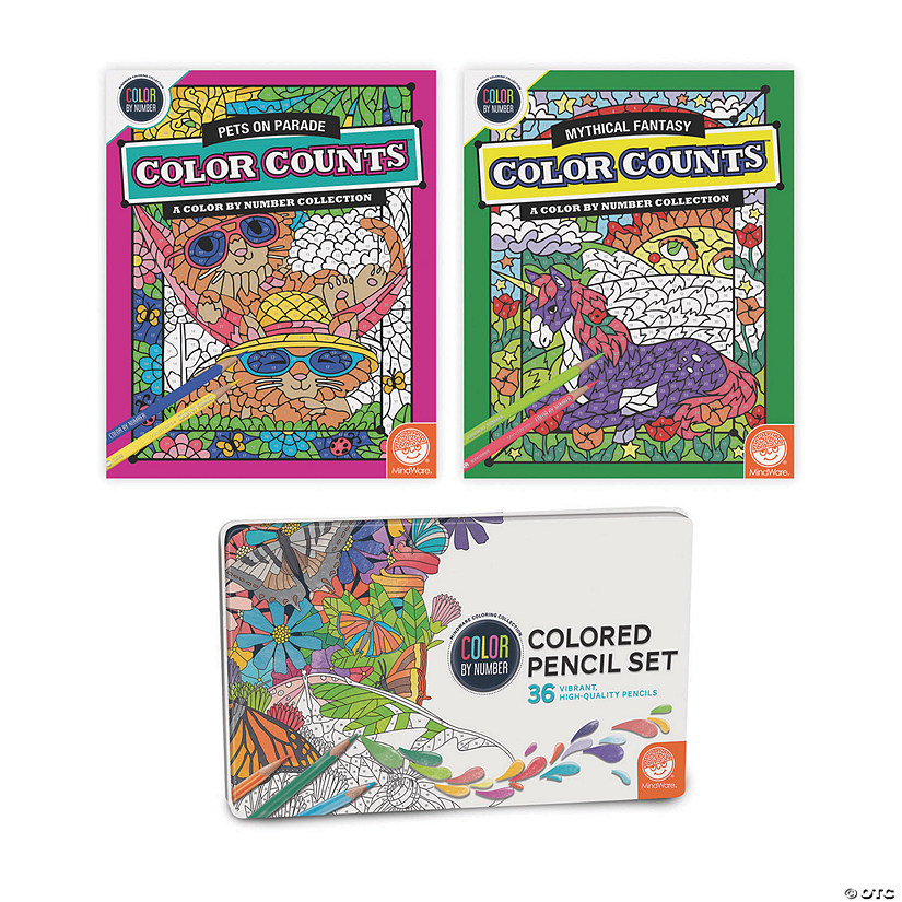 CBN Color Counts: Pets & Fantasy: Set of 2 w/ Pencils Image Thumbnail