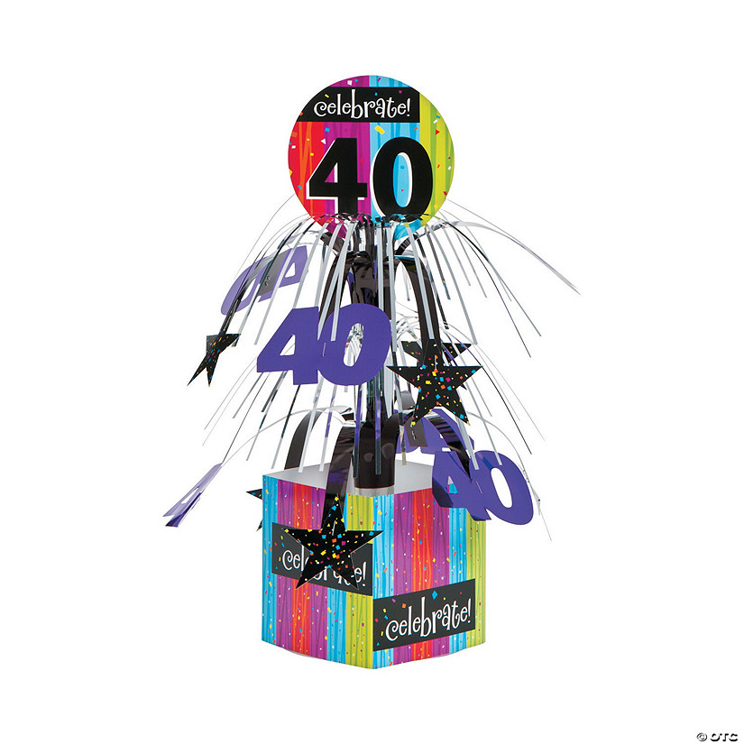 Celebrate Milestone 40th Birthday Centerpiece
