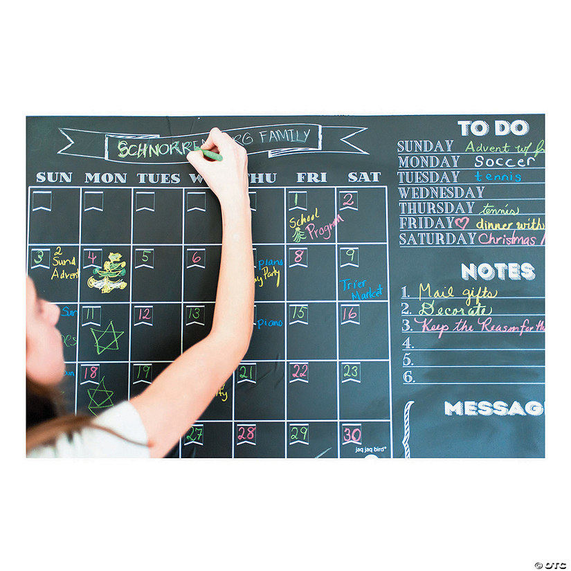 Chalk Calendar with 4pc Butterstix and Holder Image Thumbnail